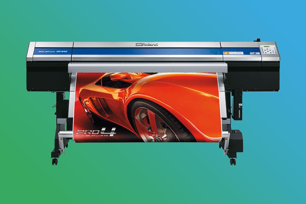 Digitaldruckerei Maschinenpark - Roland SolJet Pro 4 XR-640