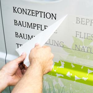 Druckerei MDG aus NRW | Produktbild Beschriftungen